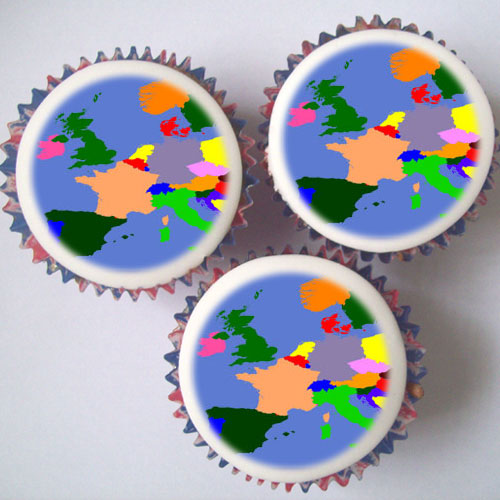 Map Cupcakes Amp Topper Decorations London Amp Uk Delivery