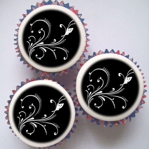 Black And Silver Cupcakes Amp Topper Decorations London