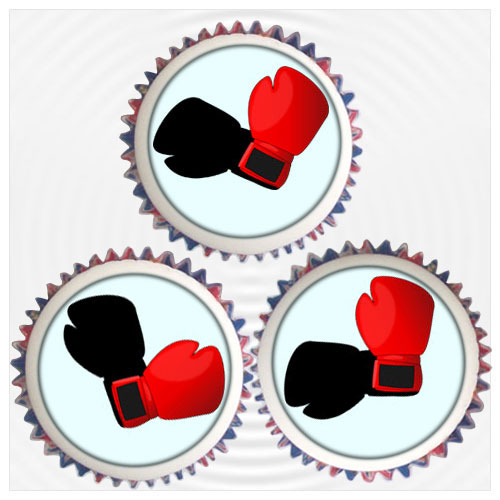 Boxing Cupcakes Amp Topper Decorations London Amp Uk Delivery
